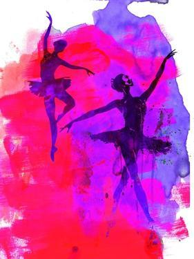 Two Dancing Ballerinas by Irina March