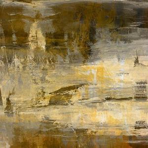 Art Abstract Acrylic Background in Beige, Yellow, Grey and Brown Colors by Irina QQQ
