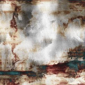 Art Abstract Acrylic Background in White, Grey, Brown and Green-Blue Colors by Irina QQQ