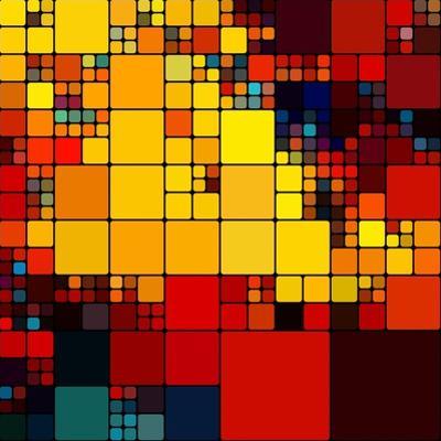 Art Abstract Vibrant Rainbow Geometric Pattern Background by Irina QQQ