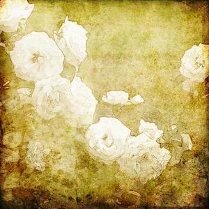 Art Grunge Floral Vintage Background Texture by Irina QQQ