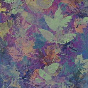 Art Leaves Autumn Background in Blue Color by Irina QQQ