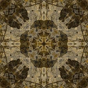 Art Nouveau Colorful Ornamental Vintage Pattern in Brown Color by Irina QQQ