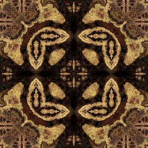 Art Nouveau Geometric Ornamental Vintage Pattern in Beige and Brown Colors by Irina QQQ