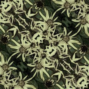 Art Nouveau Geometric Ornamental Vintage Pattern in Green, Black and Light Yellow Colors by Irina QQQ