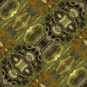 Art Nouveau Geometric Ornamental Vintage Pattern in Green Colors by Irina QQQ