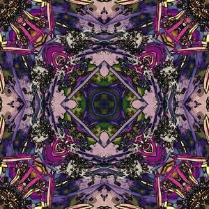 Art Nouveau Geometric Ornamental Vintage Pattern in Lilac, Violet and Blue Colors by Irina QQQ