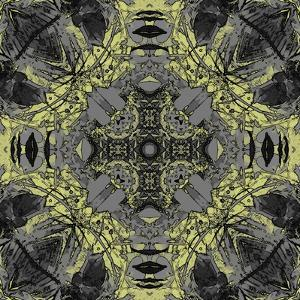 Art Nouveau Ornamental Vintage Pattern in Yellow and Grey Colors by Irina QQQ