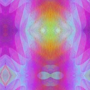 Art Vintage Geometric Ornamental Pattern, Blur Background in Lilac and Pink Colors by Irina QQQ