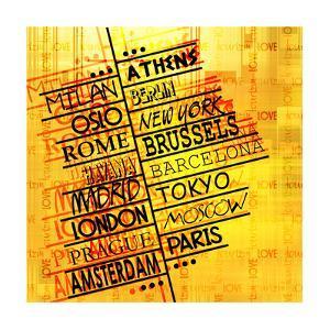 Art Vintage Word Pattern by Irina QQQ