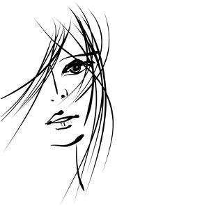 Girl Face Symbols by Irina QQQ