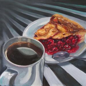 Black Coffee with a Piece of Cherry Pie by Irina Sergeyeva
