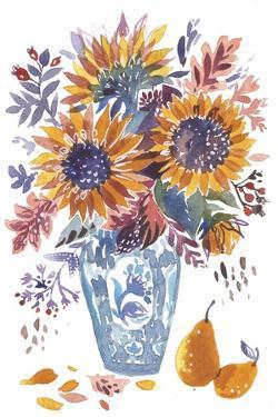 Autumn Florals 4 by Irina Trzaskos Studio