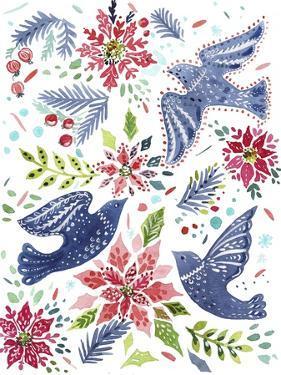 Christmas Birds by Irina Trzaskos Studio