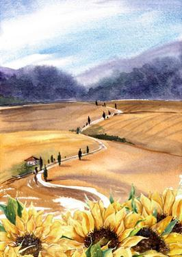 Sunflowers in Tuscany by Irina Trzaskos Studios