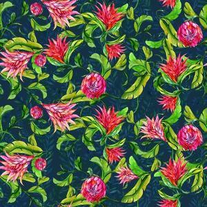 Tropical Flowers Pattern by Irina Trzaskos Studios