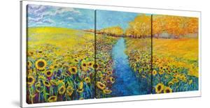 Sunflowers (Triptych) by Iris Scott