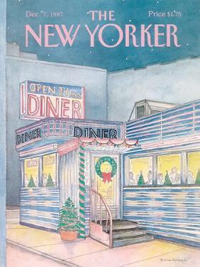 The New Yorker Cover - December 7, 1987 by Iris VanRynbach