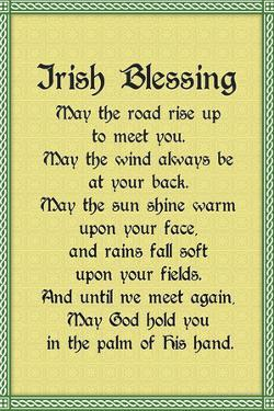 Irish Blessing Plastic Sign