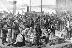 Irish Emigrants Leaving Queenstown Harbour