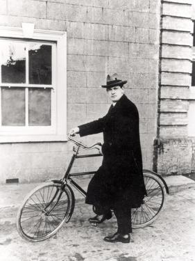 Michael Collins (1870-1922) with His Famous Bicycle by Irish Photographer