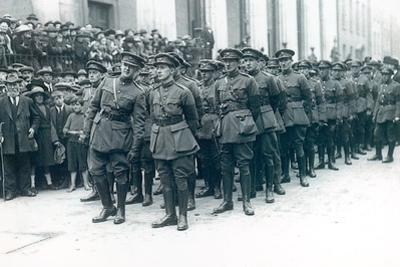 Michael Collins (1890-1922) (Left) as Head of the Irish Free State Army at the Funeral of Arthur…