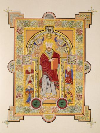 Saint Matthew, from a Facsimile Copy of the Book of Kells, Pub. by Day and Son