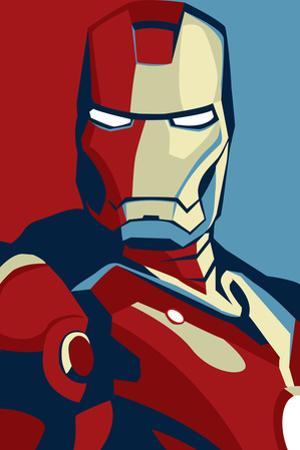 Iron Man 2 Movie (Artistic Stylized Iron Man) Plastic Sign