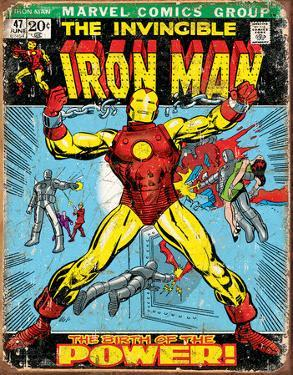 Iron Man Comic Cover Tin Sign