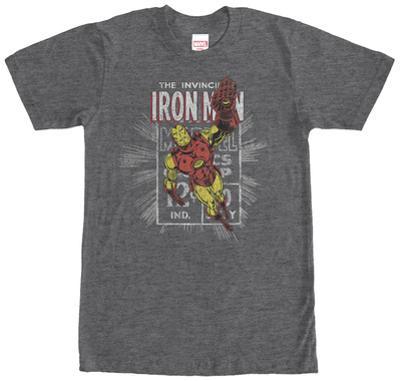 Iron Man- Distressed Stamp