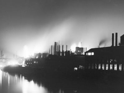 Iron Mills at Night, Pittsburgh, Pa.