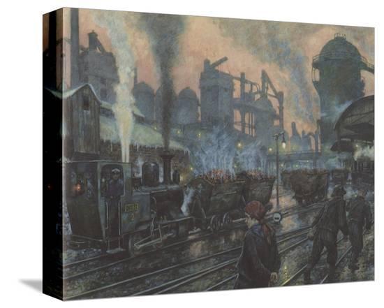Ironworks-Hans Baluschek-Stretched Canvas