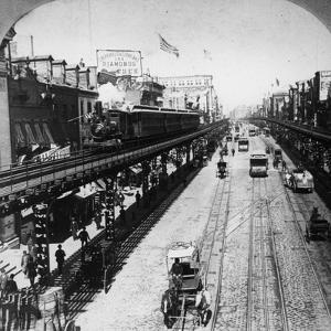 Irt Third Avenue Line Along the Bowery, New York, C.1897