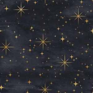 Seamless Night Sky Pattern. Elegant Stars Background by Irtsya