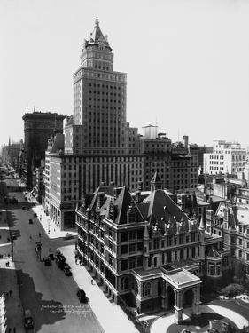 Aerial View of the Crown Building and Vanderbilt Mansion, New York by Irving Underhill