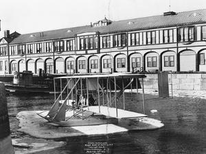 Hydro-Aeroplane, Wright Model at Battery, C1912 by Irving Underhill