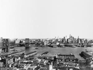The East River, Brooklyn Bridge and Brooklyn by Irving Underhill