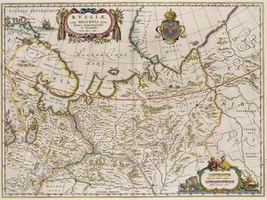 Map of Russia (From: Partes Septentrionalis Et Orientali), 1630S by Isaac Abrahamsz Massa