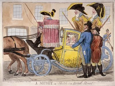 Ladies Inside a Muddy, Bond Street, London, 1800