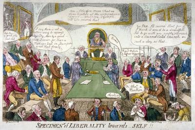 Specimens of Liberality Towards Self!!, 1809