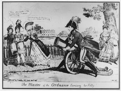The Master of the Ordnance Exercising His Hobby', 1819