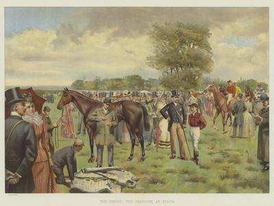 The Derby, the Paddock at Epsom