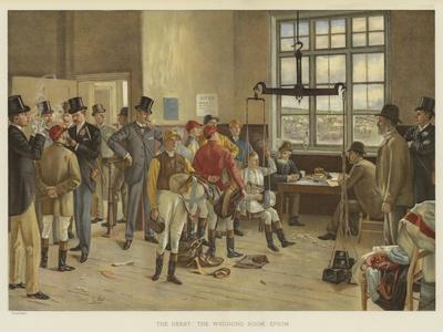 The Derby, the Weighing Room, Epsom