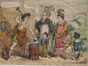 A New Chancery Suit Removed to the Scotch Bar or More Legitimates, 1819 by Isaac Robert Cruikshank