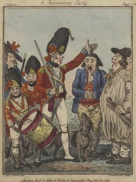 A Recruiting Party, 1797 by Isaac Robert Cruikshank