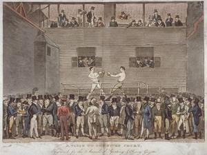 A Visit to the Fives Court, 1822 by Isaac Robert Cruikshank