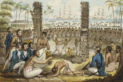 Captain Cook at the Island of Otaheite', from the Voyages of Captain Cook