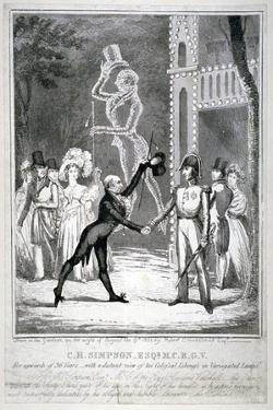 Ceremony in Vauxhall Gardens, Lambeth, London, 1833 by Isaac Robert Cruikshank