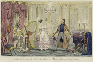 Corinthian Kate's Residence - Unexpected Arrival of Tom! by Isaac Robert Cruikshank