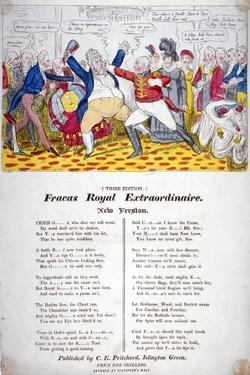 Fracas Royal Extraordinaire, 1820 by Isaac Robert Cruikshank